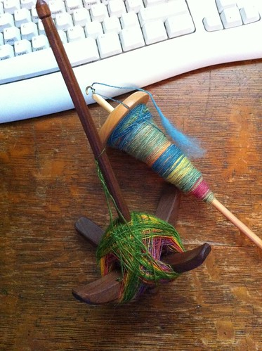 Tour de Fleece final day spindle progress. by BlueDragon2