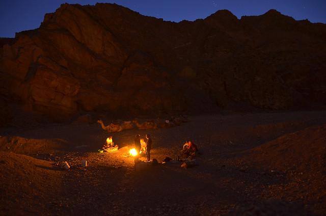 En el desierto bajo las estrellas