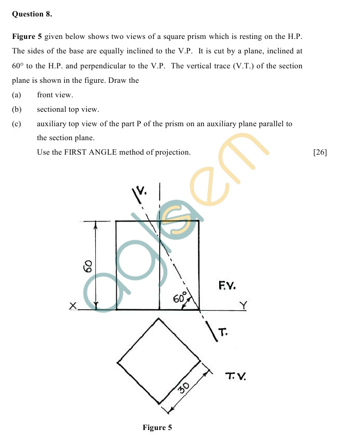 ICSE Class 10Technical Drawing Applications Sample Paper