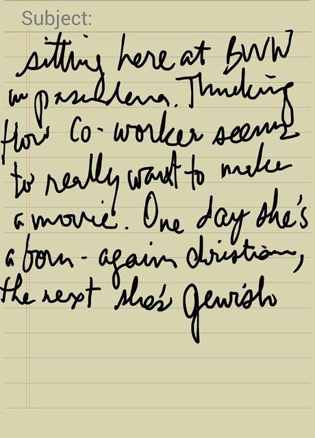 lj handwritten
