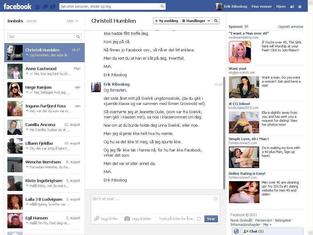 enda mer facebook