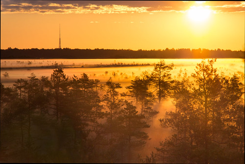 morning fog sunrise tvtower riga cenastīrelis sonya58