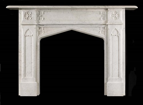 gothic marble fire surround by stephencritchley
