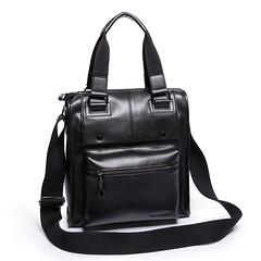 Elegant black leather dual-use package