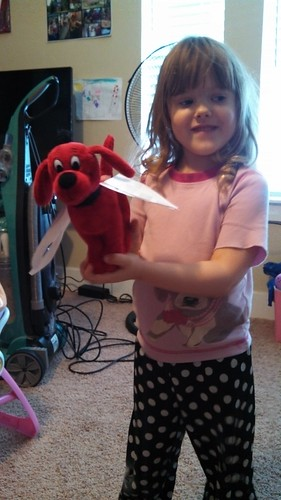 Lily made Clifford some wings