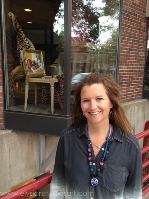 Erin with Apilco No. 5 on display at Calico Home