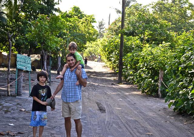Main Road of Monterrico, Guatemala