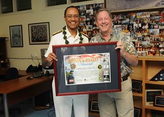 David Livingston, president of the Navy League of the