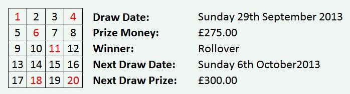 lottery 29 sept