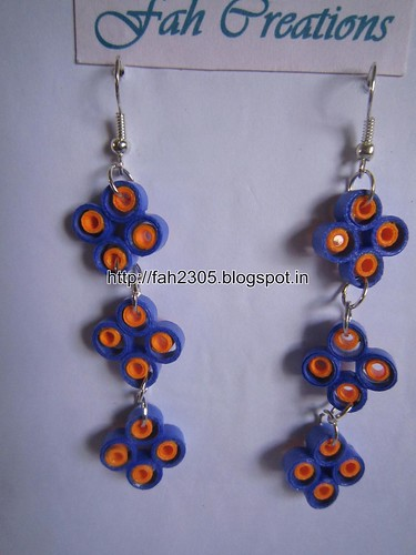 Handmade Jewelry - Paper Quilling Earrings (2) by fah2305
