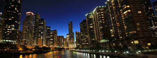 Panorama of the Chicago Skyline as seen from the Lake Shore Drive bridge | by Catarina Oberlander