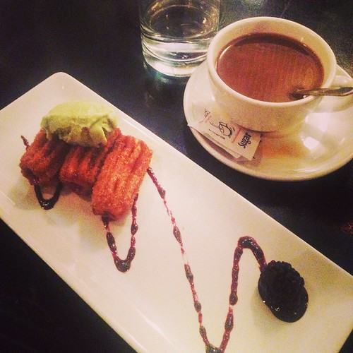 Churros with Avocado Ice Cream
