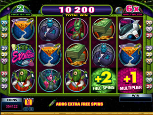 Sneak A Peek Planet Exotica Free Spins Feature