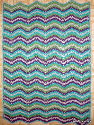 Faded-Ripple-Free-Crochet-Pattern-Baby-Blanket-Chunky-Weight-Yarn
