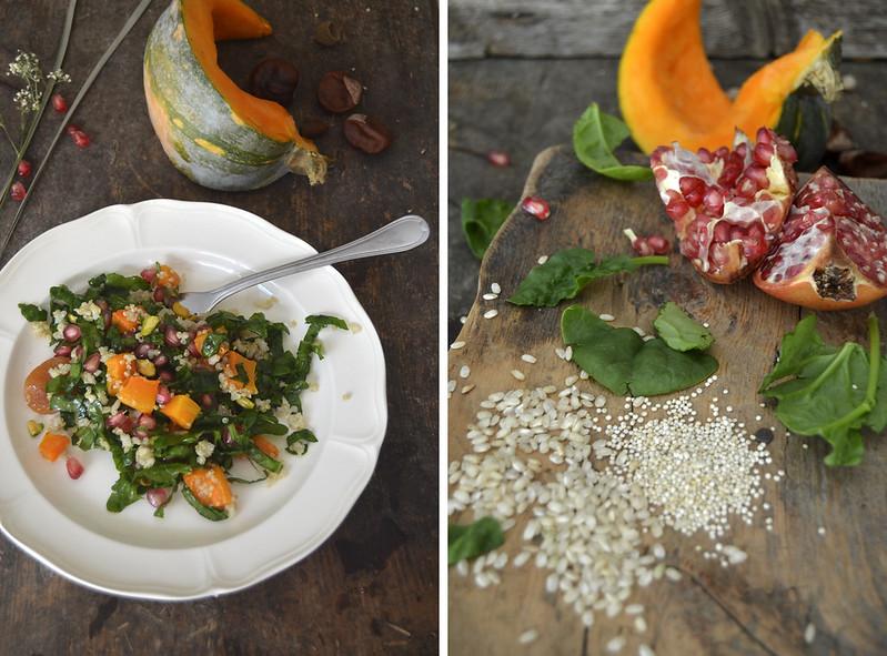 Quinoa, Spinach and Pumpkin Pilaf