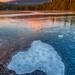 Trillium Lake Ice by Gary Randall