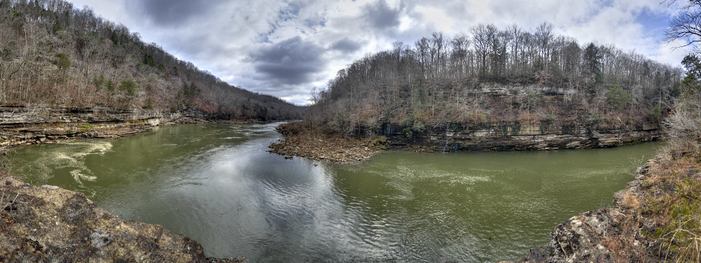 Caney Fork panorama 2, Rock Island SP, White Co, TN