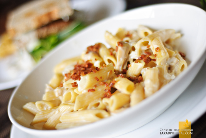Mushroom and Chicken Cream Penne at Baguio Holiday Villas and Café