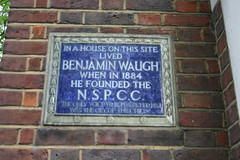 Photo of Benjamin Waugh blue plaque