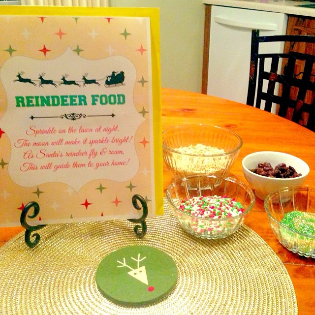Fixed up a little reindeer food tonight with the kids. We've never done this before, but it was fun!! Tried to get all the glitter mess up off the table, but yikes!! Hope the maids don't hate me!! #reindeerfood #glitterisamess #christmasmemories