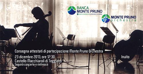Teggiano: Monte Pruno Orchestra. Il 23 Dicembre Cerimonia di consegna degli attestati di partecipazione
