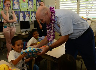 Coast Guard partners with local school to provide holiday cheer