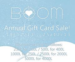*BOOM* Gift Card Sale