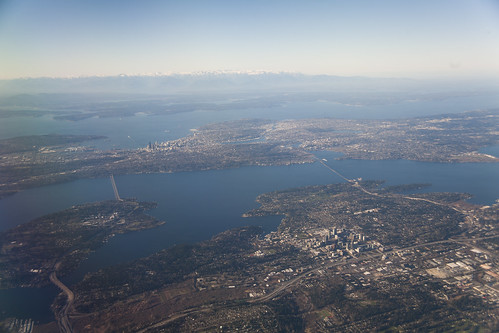 The Puget Sound from above, courtesy of Doc Searls.