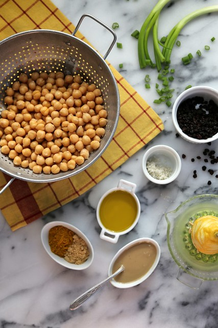 Curried Hummus with Currants