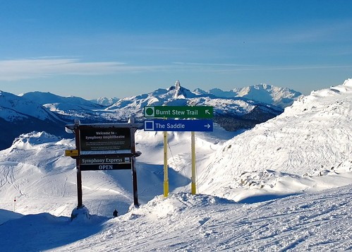 Black Tusk and Whistler signs