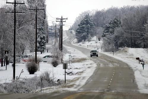 Snow on Crowley's Ridge by hattonweeks