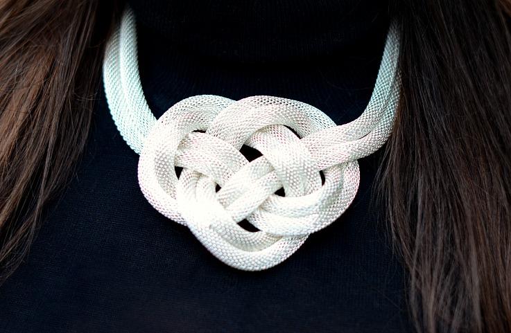 DSC_4220 Silver Knot Necklace