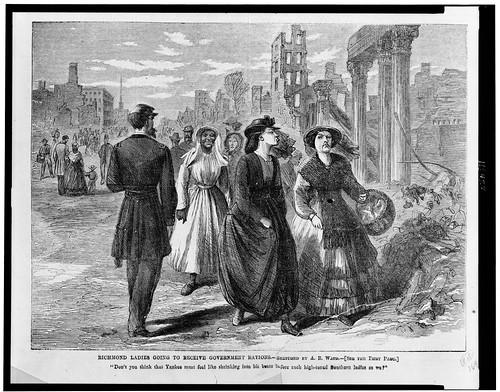 1865 Cartoon of Richmond women