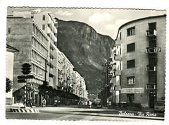 postcard - bolzano - via roma - 1959