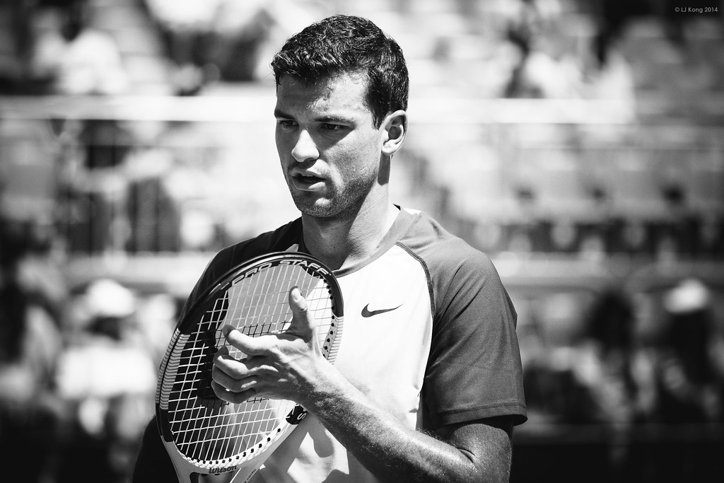 Australian Open - Grigor Dimitrov - R1 - Black and White