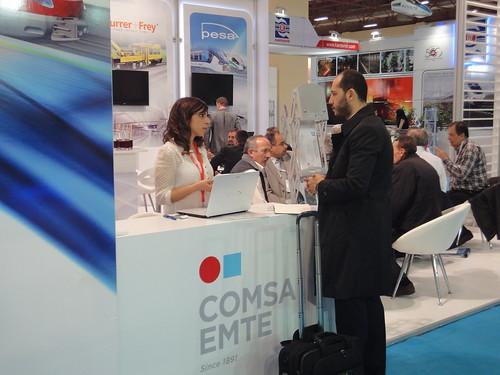 Stand de COMSA en Eurasia Rail 2014