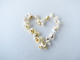 Popped Popcorn Heart