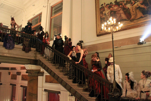 guests on the stairs