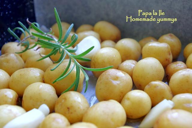 Somon la cuptor, cartofi cu rozmarin si salata (3)
