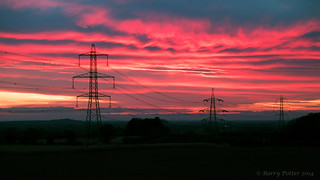 Red pylon sky