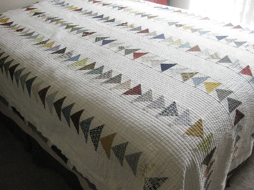 Flying Geese Quilt:  As of 26 Mar 2014