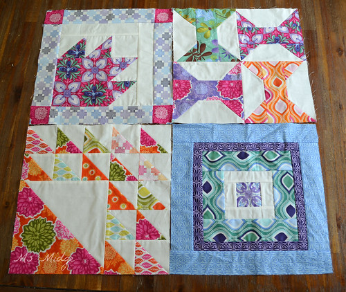 Aurifil Designer Block of the month Jan-April