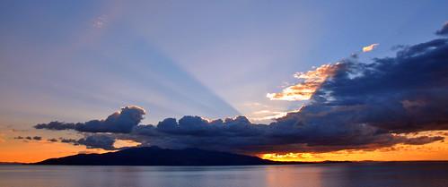 sunset sky cloud nikon view greece albania corfu ionian d90 sarande