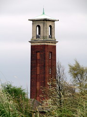 observation tower, steeple, bell tower, tower, rural area,