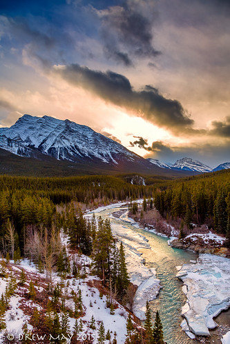 trees winter sunset sky snow canada david mountains clouds river landscape photography may drew alberta eastern thompson slopes cline drewmayphoto