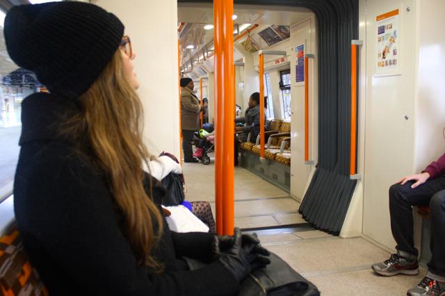 On the DLR Greenwich-bound!