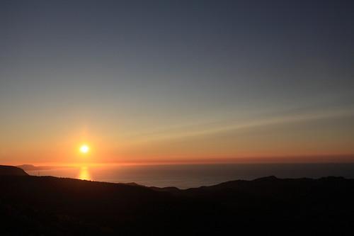 天狗山からの夕日