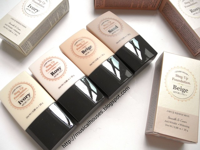 Etude House Stay Up Foundation Shades