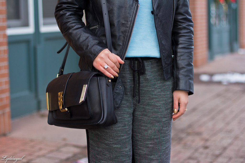 leather jacket, blue sweater, joggers, pumps-6.jpg
