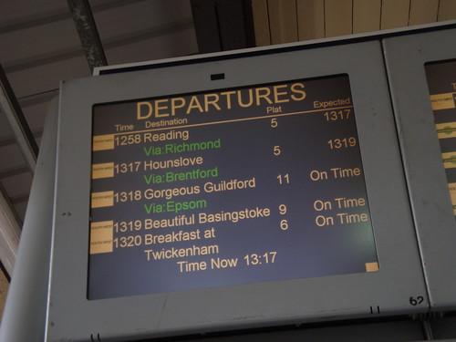 #SWTValentine - Clapham Junction Board